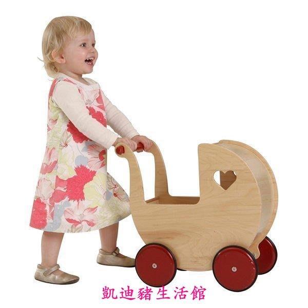 【凱迪豬生活館】丹麥品牌moover 手推娃娃嬰兒車助步學步遊戲車木質推車KTZ-200880