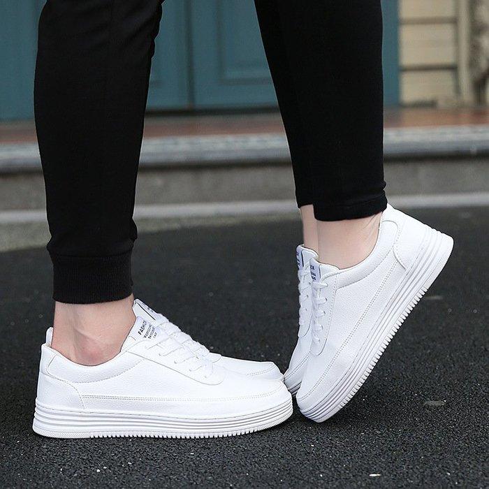 時尚男鞋春季新款男鞋男士休閑鞋小白鞋韓版潮情侶戶外板鞋大碼46 47