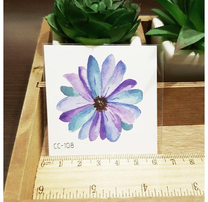 【萌古屋】花朵單圖CC-108 - 防水紋身貼紙刺青貼紙K38