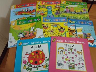 信誼 魔法英文kangaroo 幼兒園美語教材 ABC Activity book 8本書(書況新)