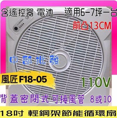發票風匠 F18-05 18吋支架型風扇 AC110V 大風口 節能循環扇 天花板節能扇 坎入式風扇 對流扇台灣製造