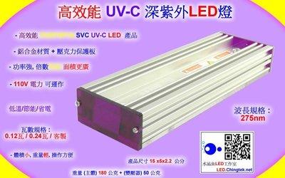 高效能 UV-C深紫外LED燈(UVC 275nm 280nm)檢測鑑識/水質淨化/消毒殺菌/化學生物學領域檢測分析應用