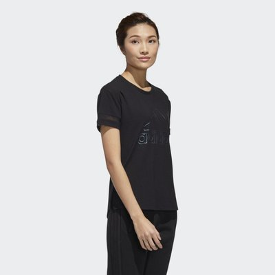 ADIDAS 黑色 運動 休閒 短踢 短袖 TEE T恤 白色 愛迪達 蔡依林 GJ9024
