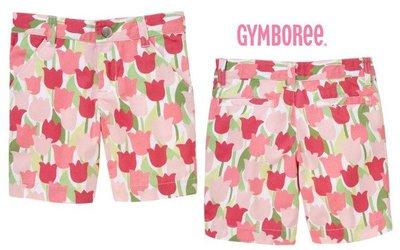 16@☆蠍蠍傳說☆Gymboree Tulip Bermuda Short 粉嫩鬱金香圖案百慕達短褲(8t)