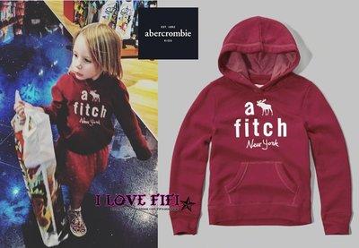 ❤美國專櫃帶回真品❤a&f童裝abercrombie&fitch kids girl hoodie麋鹿連帽Tee-桃紅色