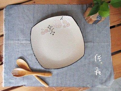 ~佐和陶瓷餐具~【82GA026-7.5 7.5吋四方淺盤(白梅)】/ 開店 餐廳 擺盤 宴會盤 /