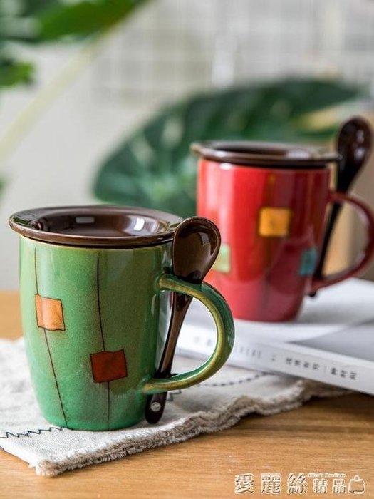 [新品]馬克杯youcci悠瓷 創意陶瓷杯子簡約牛奶杯咖啡杯家用水杯帶蓋勺  〖影時代〗