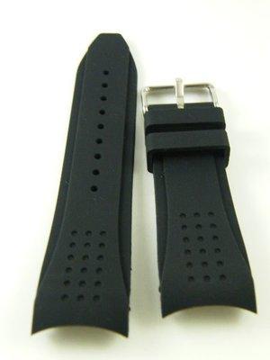 【錶帶家】『獨家』24mm 代用 HAMILTON MIDO 豪雅 TAG SEIKO BALL弧形圓弧彎頭矽膠錶帶