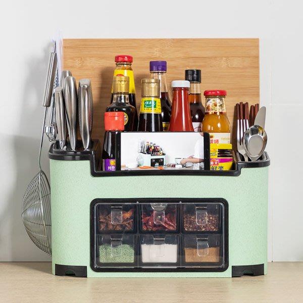 時尚多功能廚房調味料瓶套裝組合置物架(豪華版) 廚房收納