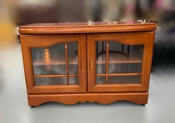 樂居二手家具(北) 便宜2手傢俱拍賣A80630*實木電視櫃* 高低櫃 櫥櫃 酒櫃 展示櫃 收納櫃 客廳家具