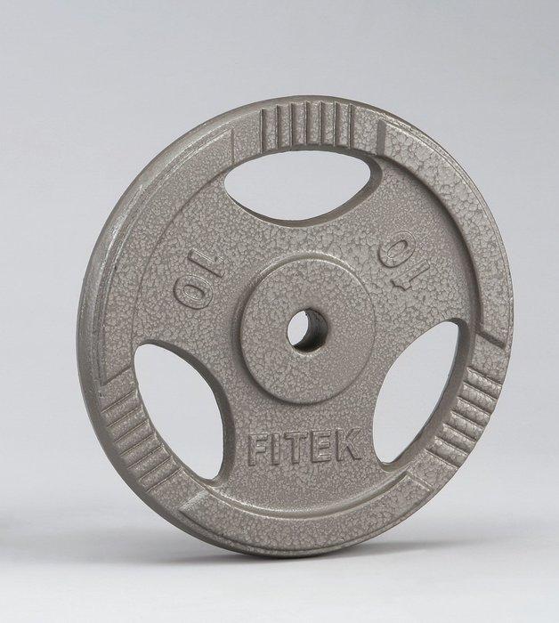 【Fitek 健身網】10公斤槓片*2片☆10KG手抓孔槓片*2個☆小孔徑鑄鐵槓片☆舉重、健力、重量訓練☆10公斤槓鈴片