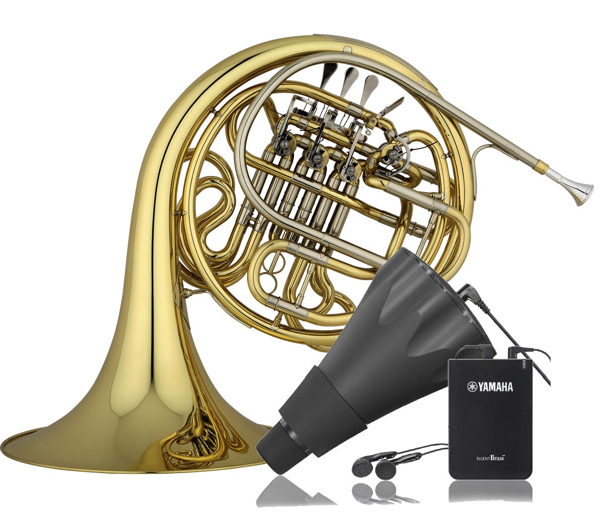 【偉博樂器】日本YAMAHA Silent Brass SB3X 法國號 Pickup Mute 銅管靜音效果器 弱音器