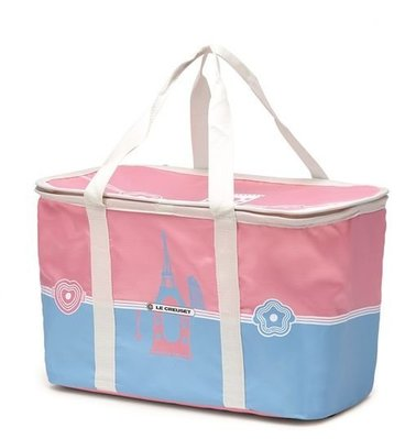 7-11 LE CREUSET Hello Kitty超玩美時尚 30公升折疊野餐籃 ,只有粉色