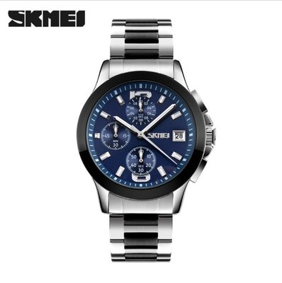 【潮裡潮氣】時刻美男士手錶防水時尚石英手錶潮流商務六針鋼帶復古腕錶