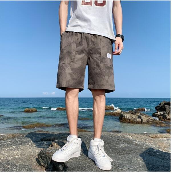 FINDSENSE X 休閒 工裝短褲 多口袋 短褲多袋 速乾 運動 男式 短褲 五分褲
