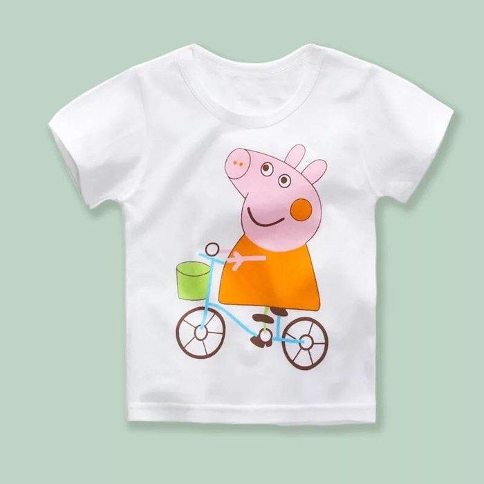 ✿荳荳小舖✿ 現貨⚽ 純棉 粉紅豬小妹短袖T恤