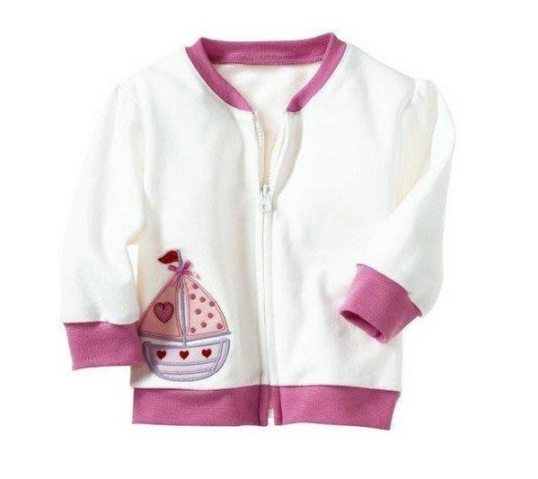 女童 歐美單 帆船純棉外套 出清 0-3M 3-6M 【L5】