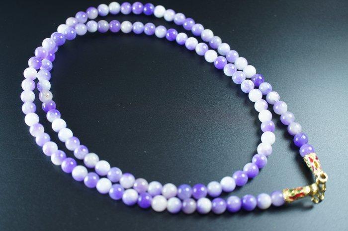 「還願佛牌」泰國 佛牌 鏈 串珠款 項鍊 單掛 經典 鏈子 紫水晶 紫玉 6 mm