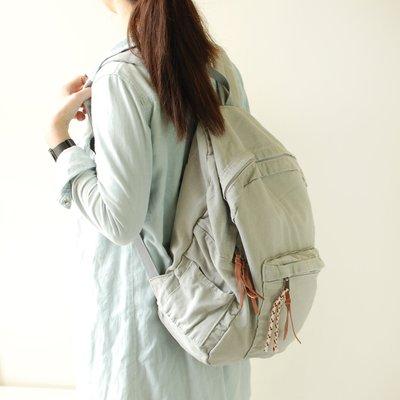 【里樂@ LeaThER】超大容量素面帆布後背包 書包 雙肩包 旅行包 行李袋 上學出國必備 594