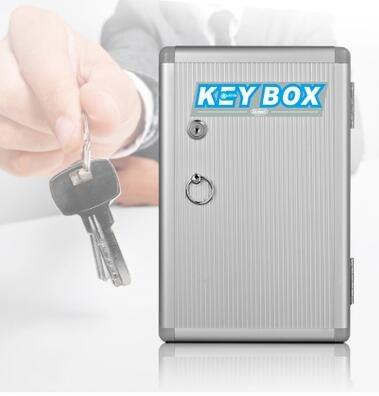 鋁合金32位壁掛式鑰匙箱帶鎖鎖匙箱辦公用品房產中介鑰匙收納管【桃源鄉】