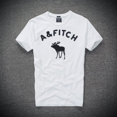 A&F 男款貼布刺繡Logo圖案內搭男短T短袖T恤素T麋鹿海鷗 AF Hollister HCO 1380白色 新北市