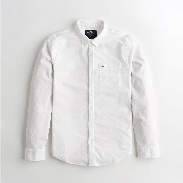 【HOLLISTER Co.】【HCO】HC男款長袖襯衫左紅小鷗白 F03201008-02