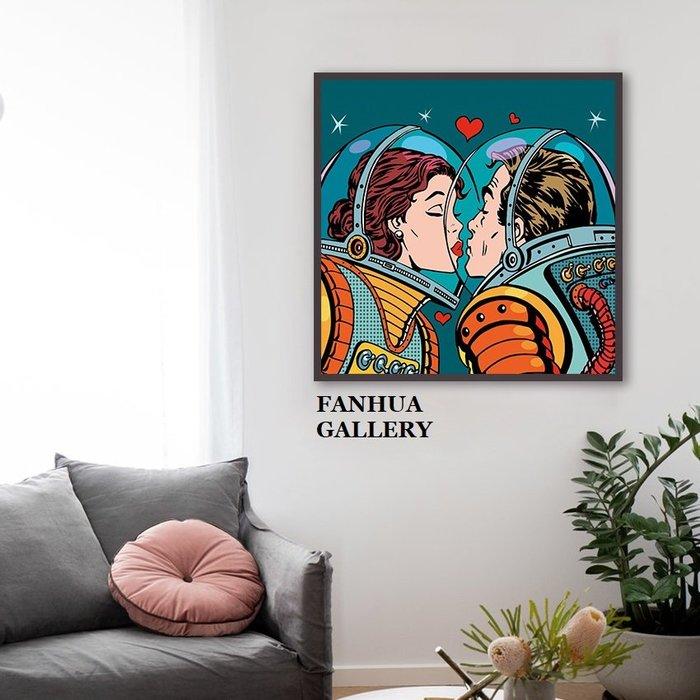 C - R - A - Z - Y - T - O - W - N 太空愛情人波普掛畫家居臥室版畫禮物工作室裝飾畫客製畫