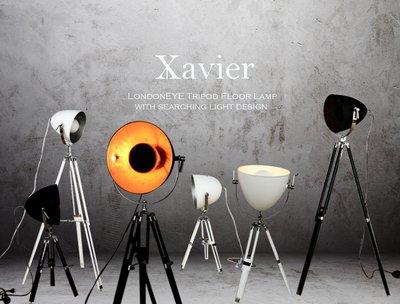 【LondonEYE】Xavier Vintage Lamp三腳架影棚落地立燈工業風/LOFTX烤漆金箔鐵件《116》直