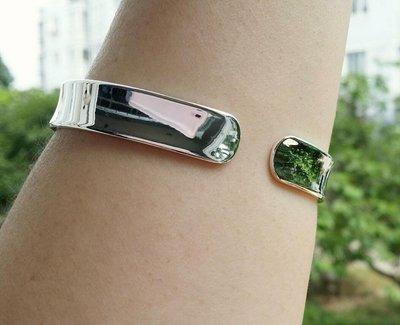 嗨,寶貝銀飾珠寶* 925純銀☆999純銀 時尚精品 內刻般若心經 光面 內凹 實心 開口純銀手環 手鐲