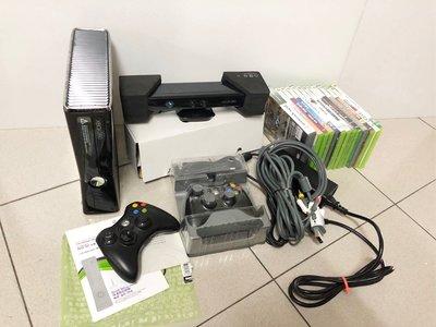 Microsoft Xbox360 S 250GB 主機(自製系統,內已安裝數個體感遊戲)、Kinect體感套件、原廠手把*2、遊戲*13