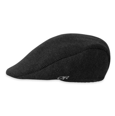 【Outdoor Research】OR243638 0001 PUB CAP 黑 羊毛透氣保暖紳士護耳帽