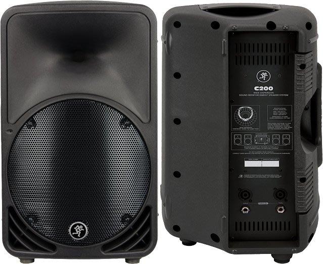 【昌明視聽】Mackie C200 美國專業級舞台喇叭10吋200瓦 2音路設計 外場舞台 PUB 禮堂 教會 一對2支