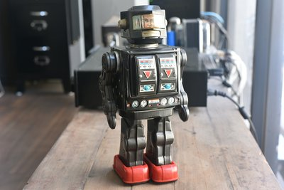 1960's/70's Rotate-O-Matic Super Astronaut 稀有日本製早期原版鐵皮玩具-機器人