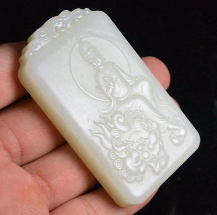 [天地居] 和闐羊脂白玉佛牌