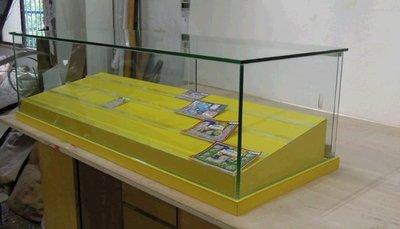 玻璃櫃台  台彩刮刮樂販售平台《全一木工坊》台灣彩卷櫃台.各式吧台.威力彩,大樂透.運彩.桌上型刮刮樂玻璃櫃!