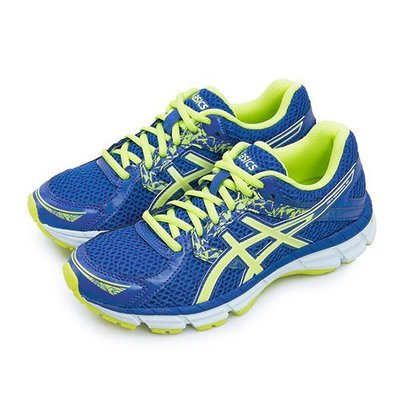 利卡夢鞋園–Asics 亞瑟士專業慢跑鞋 GEL-OBERON 10 藍螢綠 T5N6N-4885--女 台中市