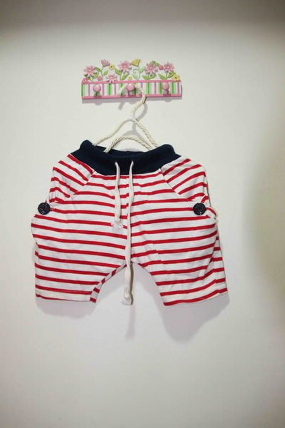 韓國紅白條紋褲