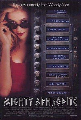 非強力春藥 Mighty Aphrodite- 伍迪艾倫 Woody Allen- 美國原版雙面電影海報 (1995年)