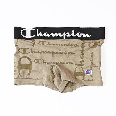 KS▸現貨 CHAMPION BOXER 3D無縫 透氣 排汗 運動內褲 【CM6-P104-670】草寫 灰綠