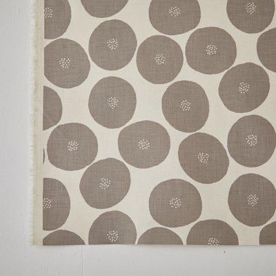 需預購 日本 MUDDY WORKS 生成底色x灰色 紅豆麵包 中厚地 棉布 (半米50x110cm=290元)