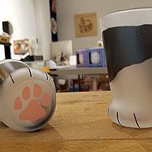 日本ADERIA貓腳造型玻璃杯 - 大斑紋(猫 グラス ココネコ - 親猫ブチ)