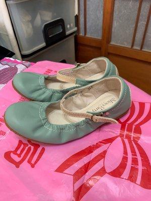 「 二手鞋 」  Shoes Party 娃娃鞋 24cm(湖水綠)鐵3-3
