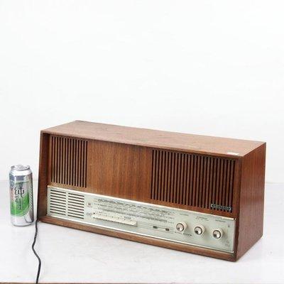 百寶軒 德國古董銘機根德Grundig4570電子管收音機膽機FM調頻功能正常 ZG2261