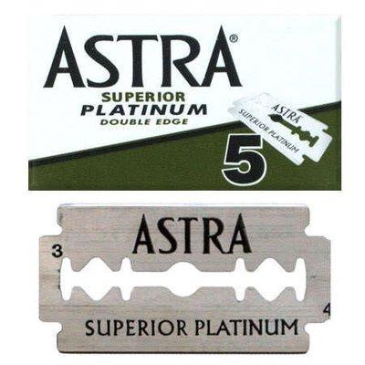 ASTRA Platinum Double Edge 超白金 雙面 安全刮鬍刀片 五片盒裝 俄羅斯製