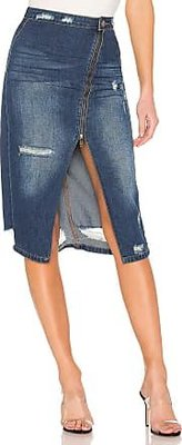 One Teaspoon Society Pencil Skirt in Blue Moon