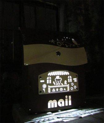 ☆成志金屬☆極特殊版*LED超漂亮#304不鏽鋼有鎖信箱,會亮燈的不鏽鋼信箱,