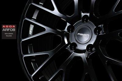 CR輪業 全新 ASGA ARF08 旋壓輕量化 19吋鋁圈 平光黑 完工價:9000 5/112 5/114