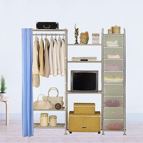 【中華批發網DIY家具】D-64-11-W3型60+60+pp電視衣櫥置物櫃-(前罩)不織布