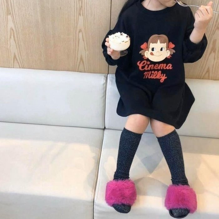 『※妳好,可愛※』妳好可愛韓國童鞋 ~正韓 時尚甜美毛毛拖鞋 韓國毛毛拖 兒童拖鞋
