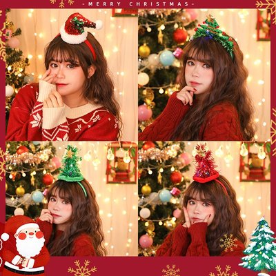 SWEET COVE~圣誕節飾品圣誕帽髮光頭箍麋鹿角髮箍少女可愛頭飾圣誕小鹿角髮箍